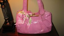 Coach 12520  Mint Pink Pleated Ergo Framed Satchel Leather Purse