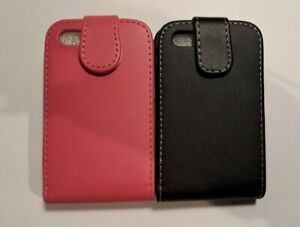 Vertical style PU leather folio, flip phone case, cover to fit Blackberry 9720