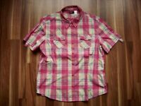 @ Crane @ Bluse Size M UK 12/14 US 10/12 Gr. 40/42 kurzarm Karo pink