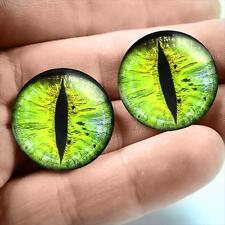 18mm Green Cat Eyeballs Glass Taxidermy Sifi Creature Doll Eye Fantasy Sculpture