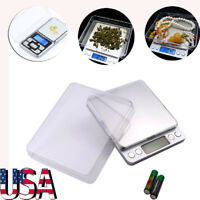 500g-2000g/0.1g Electronic Digital Balance Weighing Pocket Jewelry Scale Tool US