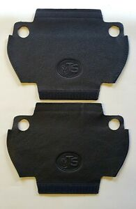 VW T5 & T5.1 Black LEATHER/Black stitch -2x LEATHER HANDLE COVERS (NVW)