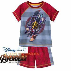 Disney Store Marvel Avengers Infinity War Boys Pajamas Set Size  5/6 7/8  NWT