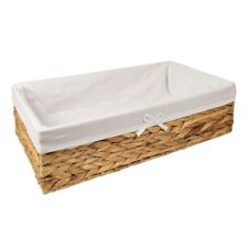 Woodluv Water Hyacinth Under Bed Storage Box Chest Basket - 55cm x 31cm x 15.5(H
