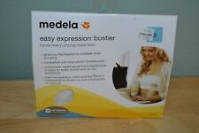 New! Medela Easy Expression Hands-Free Pumping Bustier Bra, White, Small