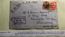 1942 Egypt British Army Field post Airmail Cover To Johannesburg South Africa