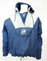 Vintage Starter Men's Georgetown Hoyas Hooded Jacket Pullover Blue White XL