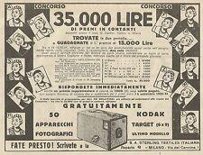 W3016 Apparecchi Fotografici Kodak - Pubblicità 1934 - Advertising