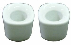 """Lot of 2 Ceramic Candle Holders for 1/2"""" inchs Wide Mini Chime Candles"""