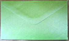 50 Fresh Bright Green Pearlised Envelopes 9cm x 14cm EB249