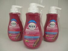 3 VEET LEGS & BODY GEL CREAM HAIR REMOVER - SENSITIVE - 13.5 OZ EACH  AP 3950