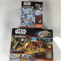 Micromachines Star Wars The Force Awakens Millennium Falcon B3533 and R2-D2 3512