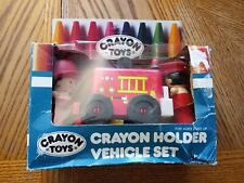 vintage crayola crayon toys holder fireman set in original packaging free!