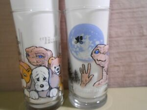 2 E.T. Limited Edition Glasses Pizza Hut 1982 Extra-Terrestrial