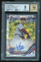 2019 Bowman Chrome Will Stewart Atomic Refractor Phillies RC BGS 9 10 1st Auto