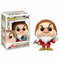 Funko Pop Disney 348 Snow White 21732 Grumpy With Diamond & Pick Exclusive