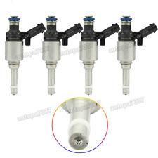 4x Fuel Injectors For Bosch 2008-2014 Audi A4 A3 A5 TT VW T5 Eos CC 2.0L Turbo