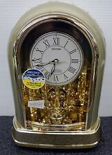 CRYSTAL DULCET (CHAMPAGNE GOLD) MUSICAL MOTION CLOCK BY RHYTHM 4RH786WT18
