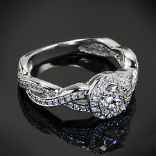 1 CT G/VS2 ROUND CUT DIAMOND SOLITAIRE ENGAGEMENT RING 14K WHITE GOLD