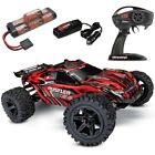 NEW Traxxas Rustler 4x4 Brushed RTR RC Truck w/Battery & Quick Charger RED