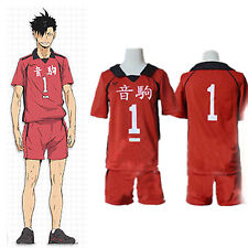 Haikyuu Kuroo Tetsurou High School Uniform Jersey No.1 Cosplay Costume Summer
