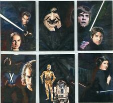 Star Wars Galaxy 4 Complete 6 Card Etched Foil Puzzle Chase Set