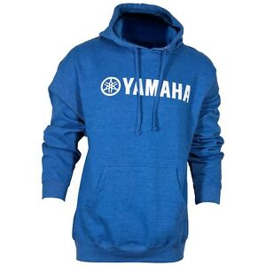 YAMAHA HEATHERED PULLOVER HOODIE BLUE LOGO SWEAT JACKET ALL SIZES WAS $49.99