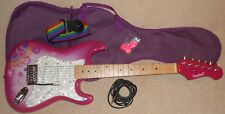 Candy Rox 3/4 Size Electric Guitar Pack (Pink/White) with soft carry case