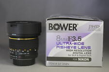 Bower 8mm F3.5 Fish-Eye AIS Lens For Nikon New