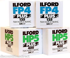 ILFORD FP4 & HP5 35mm 24 exp.  4 FILM STARTER PACK B&W FILM -1st CLASS POST
