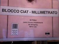 BLOCCO CIAT CARTA MILLIMETRATA TRASPARENTE A3