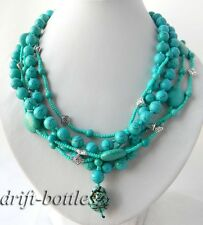 5Strands 19'' 10MM Multi Shaped Turquoise Necklace