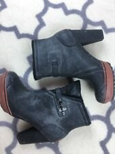 SOREL Medina High Heel Rubber Rain Ankle Boots Women's 9.5 RARE