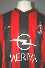 AC Milan Italy Adult Large Jose Mauri #4 Red Black Soccer Jersey (L UEFA Champs)