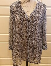 Joie - Black & white spotted blouse - Size M