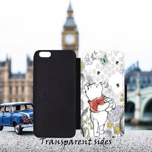 Winnie the Pooh Forget Quote Leather Flip Wallet Phone Case