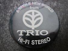 Kenwood Trio HiFi Stereo Pin Badge Button (L6B)