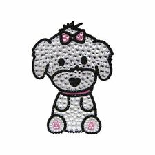 Maltese Dog Rhinestone Glitter Jewel Phone Ipod Iphone Sticker Decal