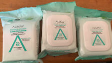 Lot of 3 Almay Clear Complexion Bio.Makeup Remover Cleansing Towelettes 25ct