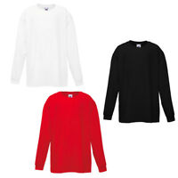 Plain KIDS Classic Valueweight Fruit of The Loom SHIRT T blank long sleeve Sale