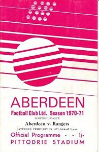 Aberdeen v Rangers 20 Feb 1971