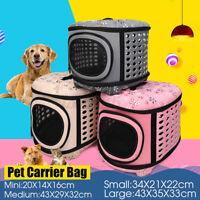Dog Cat Puppy Foldable Pet Carrier Portable Travel Bag Shoulder Backpack
