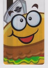 Steak N Shake Cartoon Hamburger Face Hat Partially See-Thru Gift Card