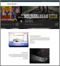 ANDROID TV BOXES Website|£72.10 A SALE|FREE Domain|FREE Hosting|FREE Traffic