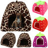 Pet Cave Soft Fleece Warm Washable Puppy Cat Dog Bed Kennel Igloo Basket House