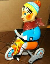 Tin Boy on Tricycle Reproduction  Wind-up Toy with Key