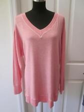 NWT Westbound Woman Pink Heather V-Neck Shirt w/ Whip Stitching Sz 3X