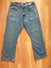Wrangler Originals Relaxed Boot Jeans Men's 36x30 100% Cotton Washed Blue Denim