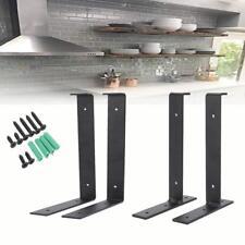 2x Wall Mounted Metal Folding Triangle U/T Angle Shelf Support Bracket Racking
