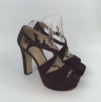 Michael Kors Suede High Heeled Shoes Maroon Size 10M USA / 7.5 8 UK Ex Cond
